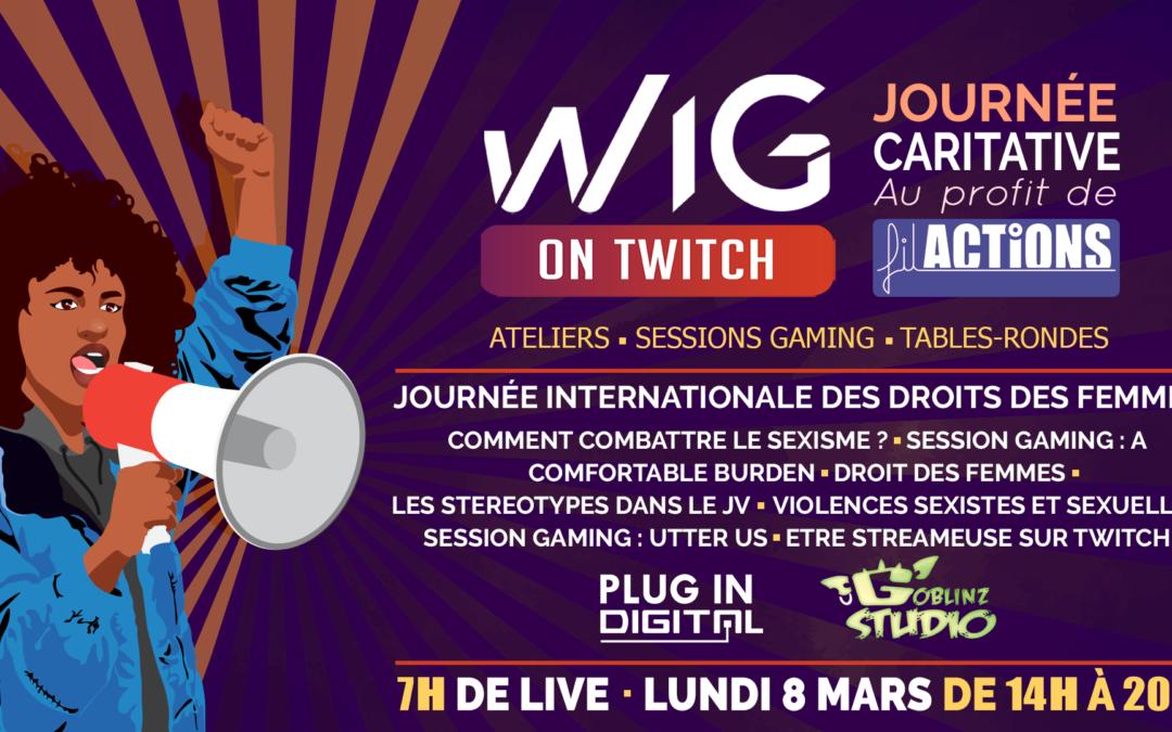 Live Twitch à l'occasion de la Journée internationale des droits des femmes