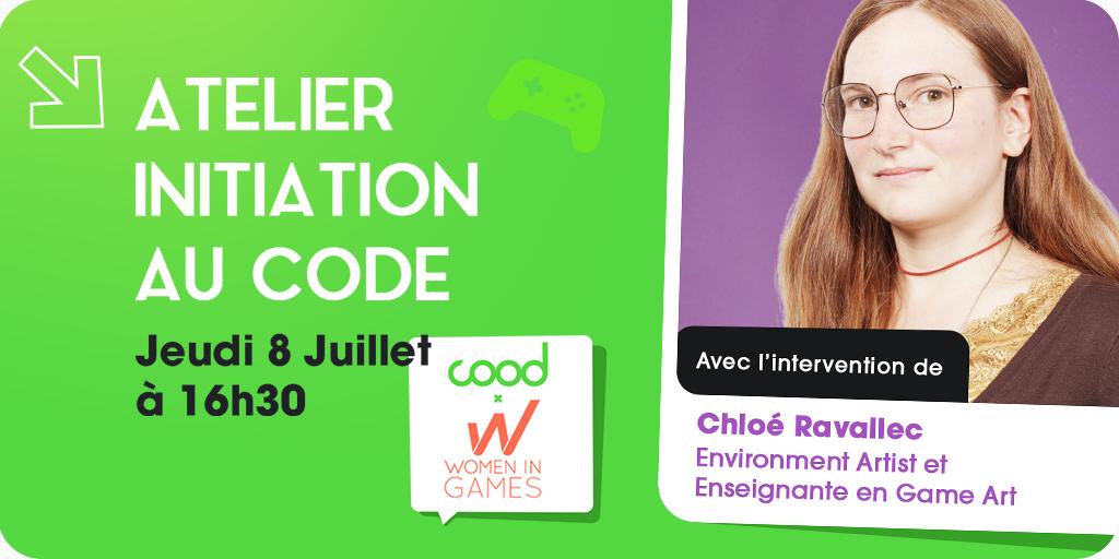 Annonce atelier d'initiation au code avec COOD – 3ème édition